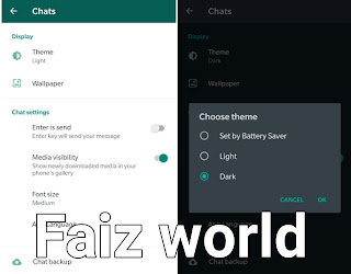 How to enable WhatsApp night mode?