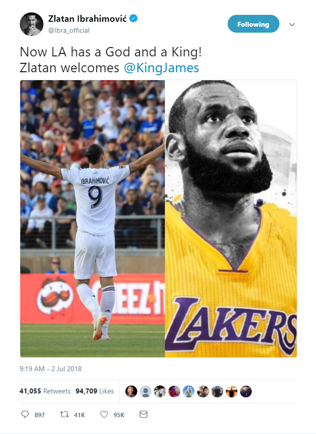 Los Angeles now has a king to go with a God