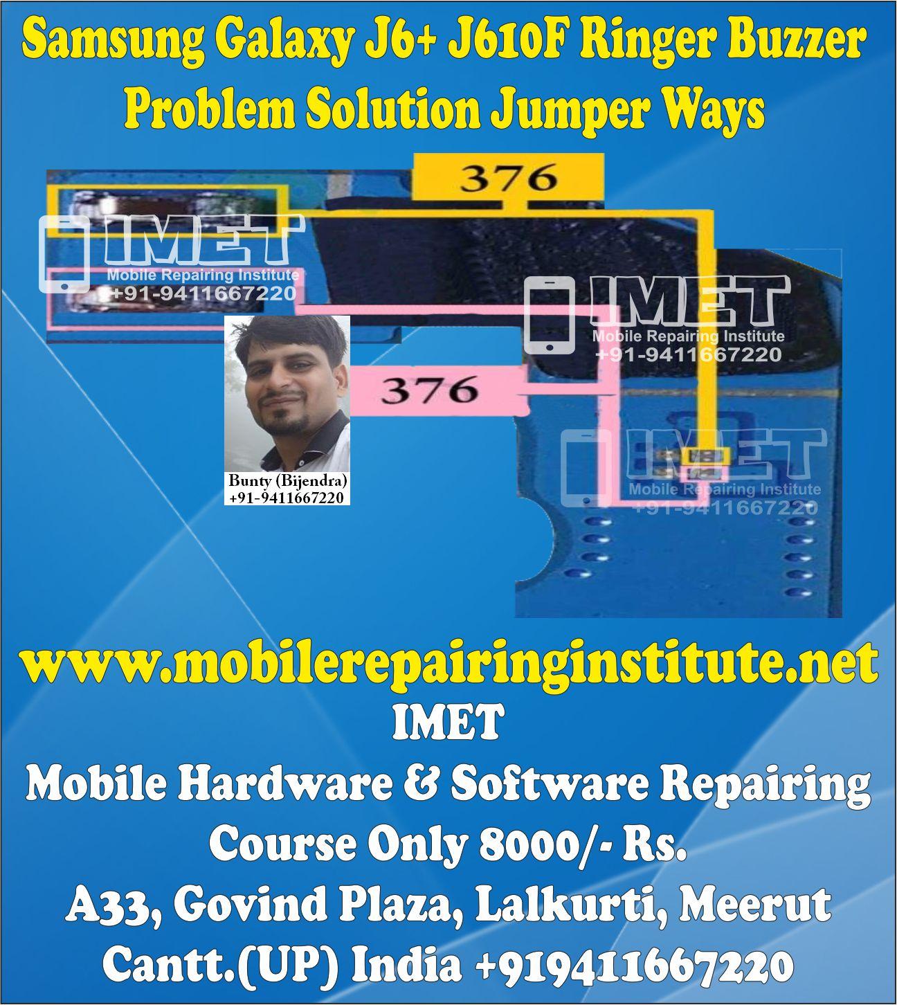 Samsung Galaxy J6+ J610F Ringer Buzzer Problem Solution Jumper Ways