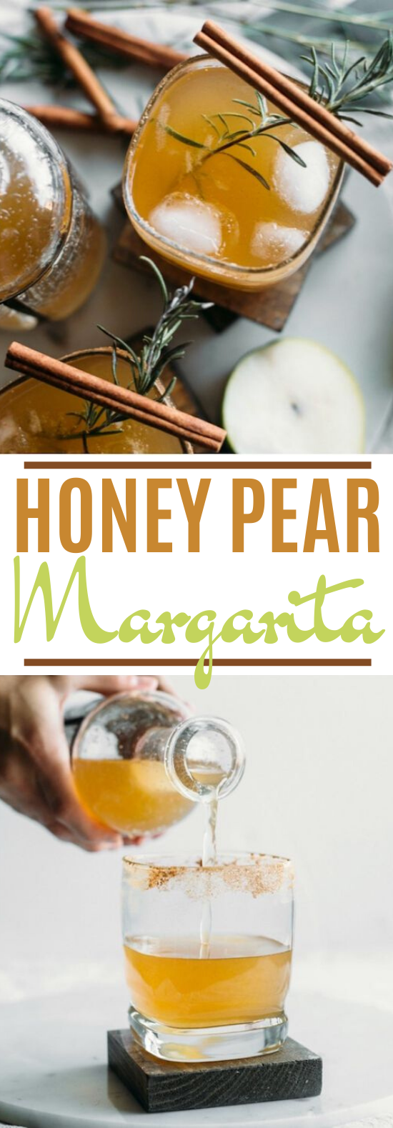 Honey Pear Margarita #drinks #alcohol #cocktails #fall #beverages