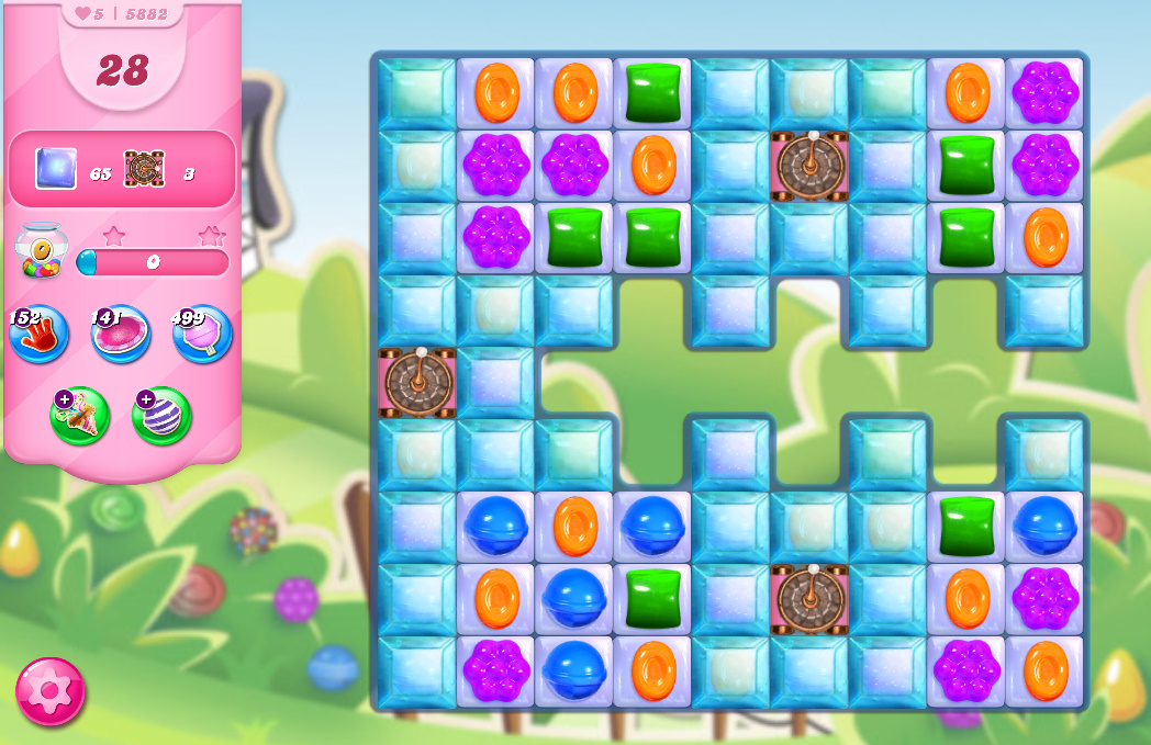 Candy Crush Saga level 5882