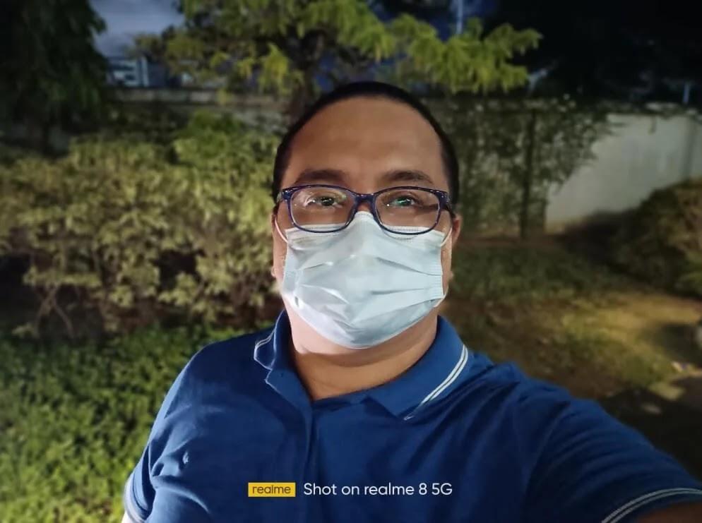 realme 8 5G Camera Sample - Night, Portrait Selfie