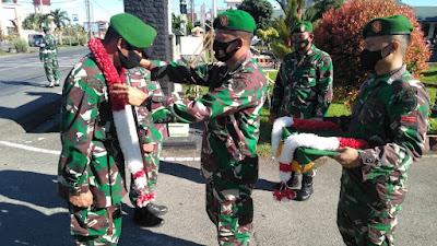 1 Tahun Tugas BKO di Maluku Dan Papua, Kodim 0105/Abar Sambut Kepulangan Prajuritnya