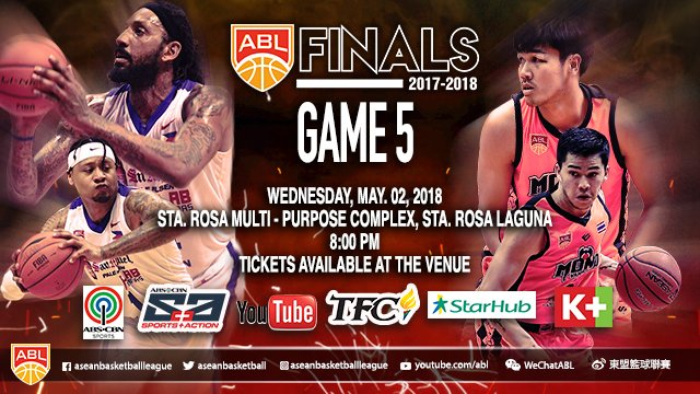 Livestream List: Alab Pilipinas vs Mono Vampire May 2, 2018 ABL FINALS 2017-2018