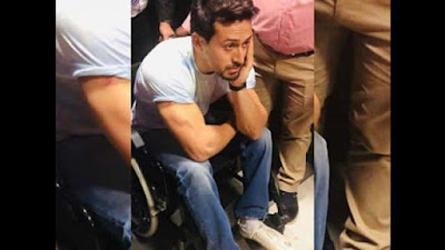 Tiger Shroff spotted on Wheelchair Watch Video