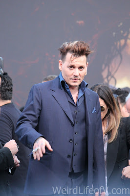 Johnny Depp waving to fans