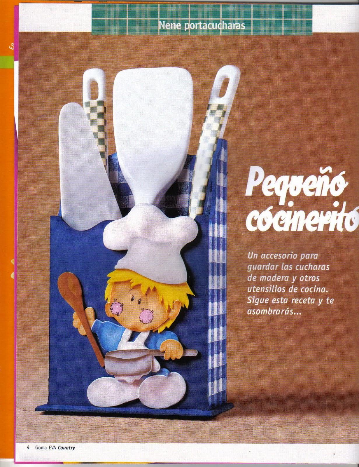 Manualidades para la cocina en goma eva revistas de for Decoracion del hogar paso a paso