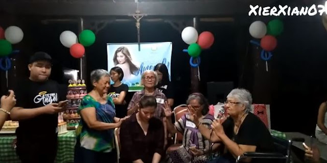 Angel Locsin Was Prayed Over By The Elders At The Anawim Lay Foundations, Inc.