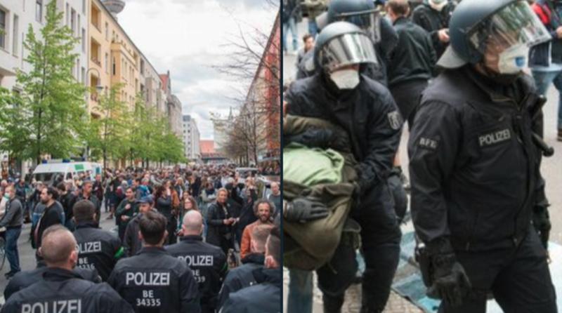 """Vokietijoje gimsta judėjimas """"Pasipriešinimas 2020"""", kovojantis prieš COVID-19 diktatūrą"""