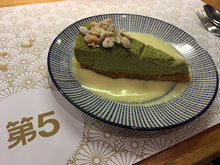 Green tea cheese cake postre El Quinto