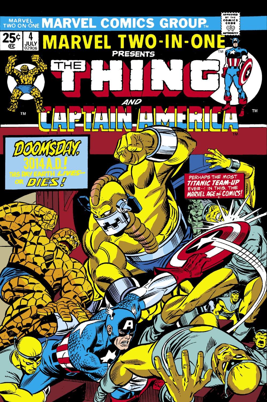 Marvel Two-In-One #4, portada de Gil Kane y Joe Sinnot