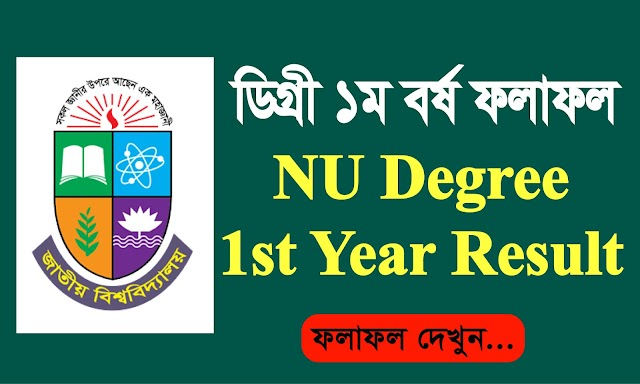 Degree 1st Year Result | NU 1st Year Degree Result