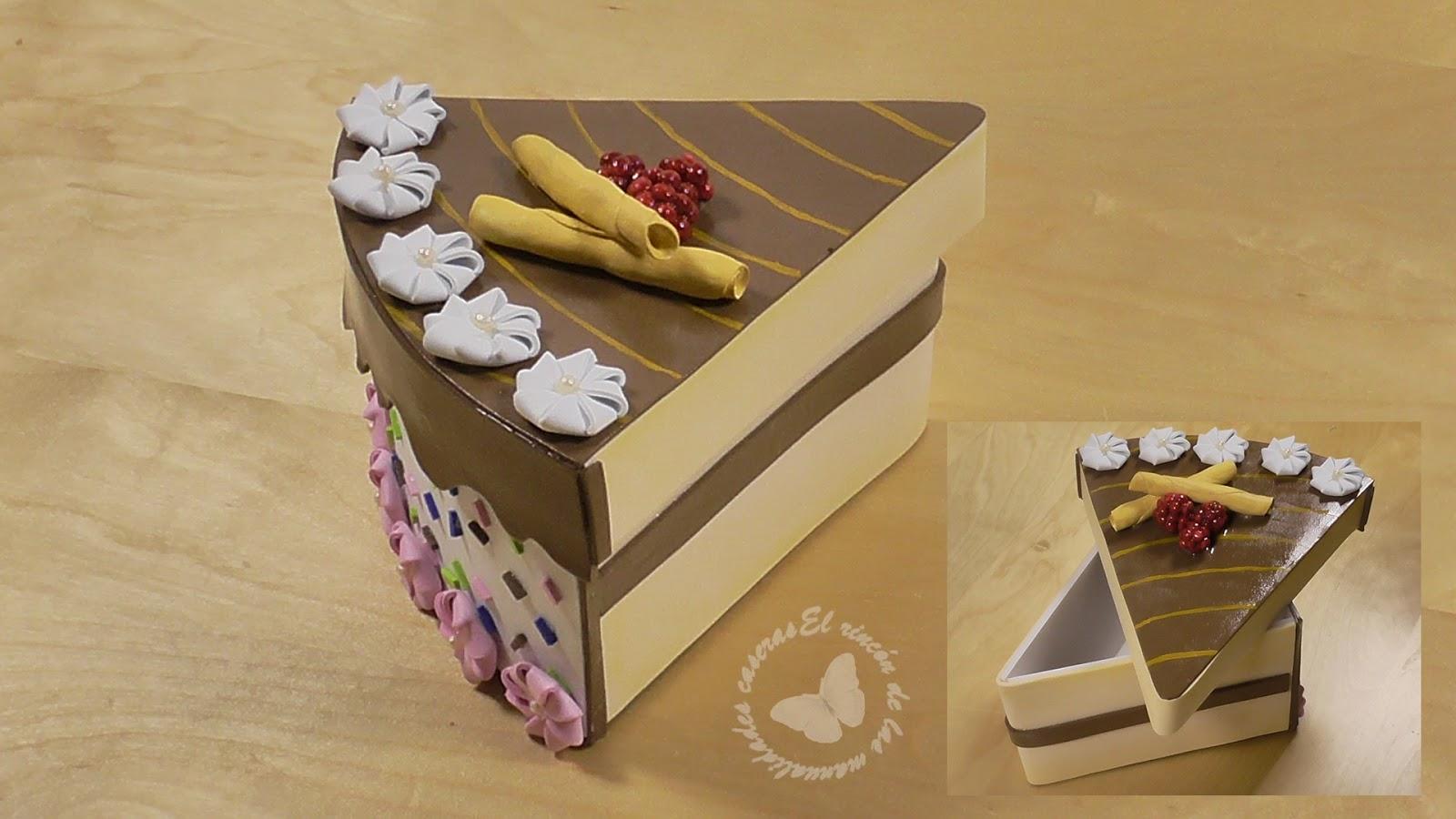 El rincn de las manualidades caseras Cmo hacer una caja tarta
