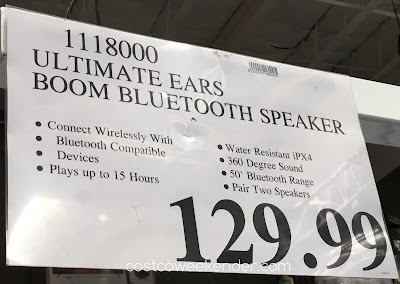 Deal for the UE Boom Portable Bluetooth Speaker at Costco