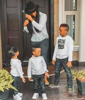 See How Rudeboy Celebrated His Beautiful Wife And Kids On Mother's Day