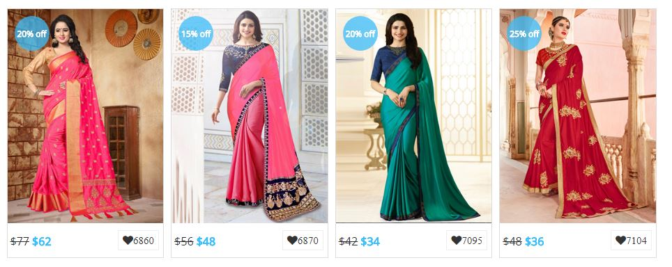 Indian Saree Collection: Designer Party Wear Sarees Online Shopping ...