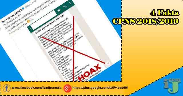 Semakin gencar pemberitaan informasi sitem seleksi CPNS Nasional  4 Fakta CPNS 2018/2019
