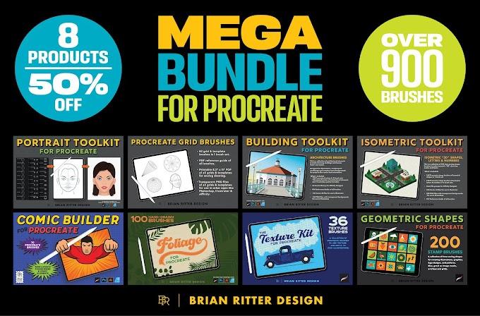 Mega Bundle for Procreate[Photoshop][Brush][5467662]