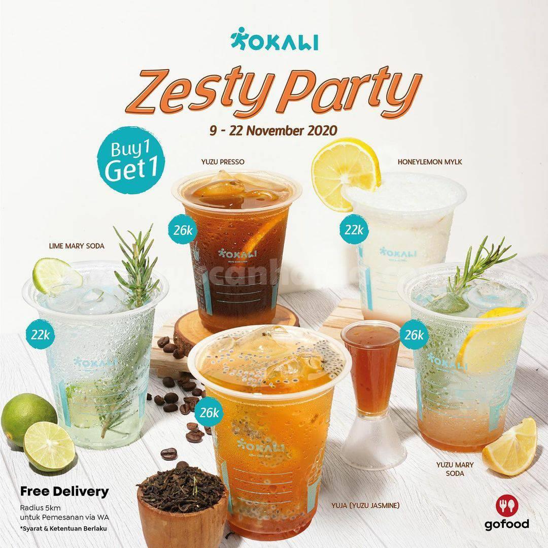 KOKALI Zesty Party Promo Buy 1 Get 1 Free