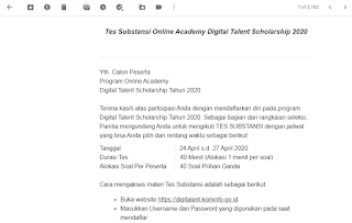 Cara Daftar Digital Talent Scholarship 2020