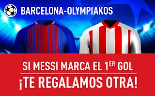 sportium promocion 25 euros Barcelona vs Olympiakos 18 octubre