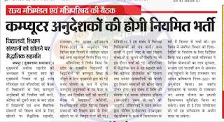 Rajasthan Computer Teacher Vacancy 2021