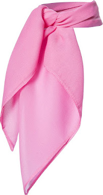 Pink 1950's Vintage Style Sheer Chiffon Scarves