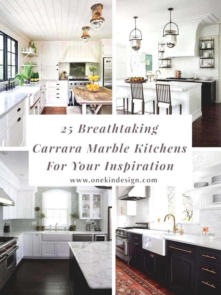 Breathtaking Carrara Marble Kitchens Kindesign