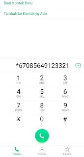cara menyembunyikan nomor di android
