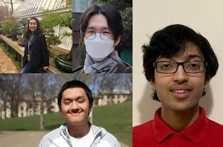 Esther Bedoyan ,Ethan Lu,Arvind Mahankali,Jinhyung Park Carnegie- Mellon -University -students -recipients- awards