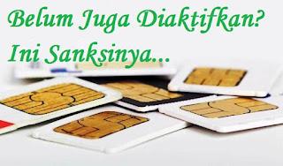 Sanksi untuk kartu sim yang belum registrasi ulang