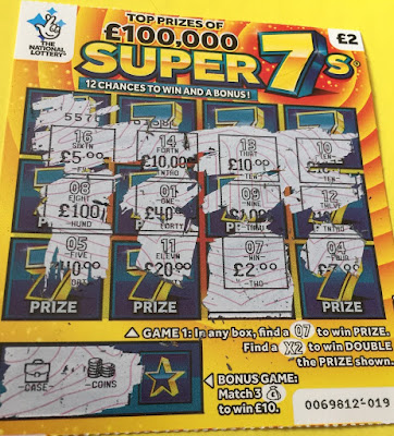 £2 Super 7s Scratchcard - £2 Win