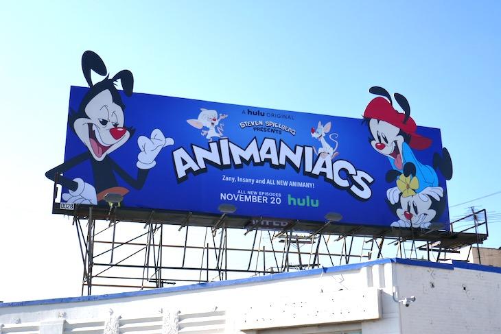 Animaniacs Hulu series billboard