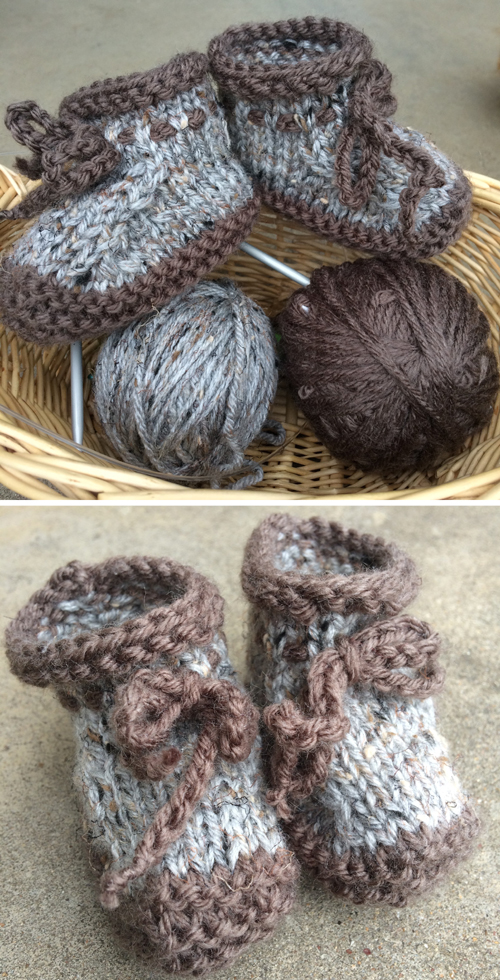 Worsted Weight Baby Booties - Free Pattern