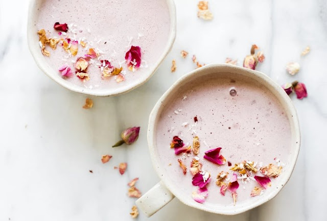 Vanilla Rose Moon Milk #drinks #milk