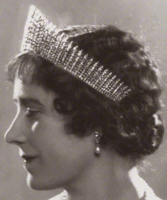 fringe tiara diamond queen mary united kingdom e. wolff & co garrard elizabeth mum mother