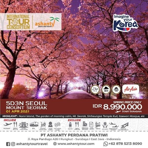 paket tour korea surabaya 2021