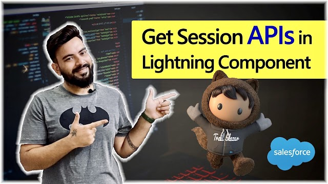 Get Session APIs in Lightning Component Salesforce