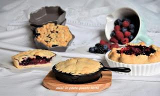 Summer berry pies