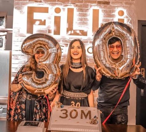 Jannat Zubair Rahmani celebrating 30 million followers on Instagram !!