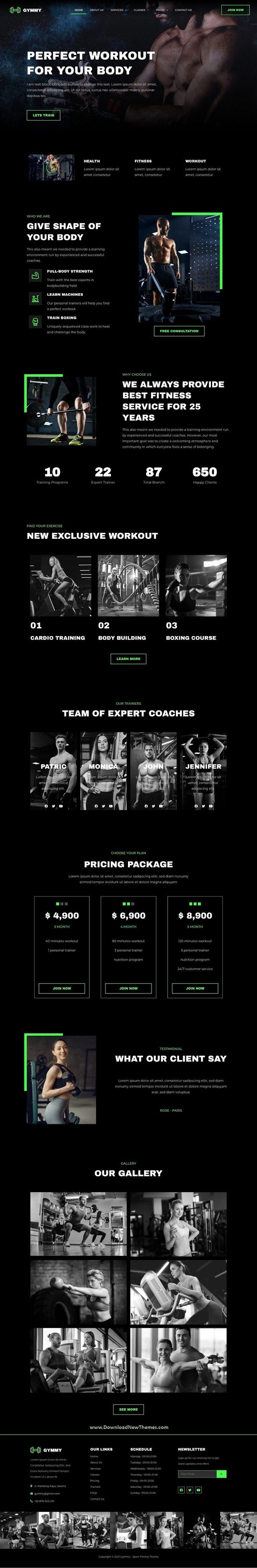 Sport & Fitness Elementor Template Kit