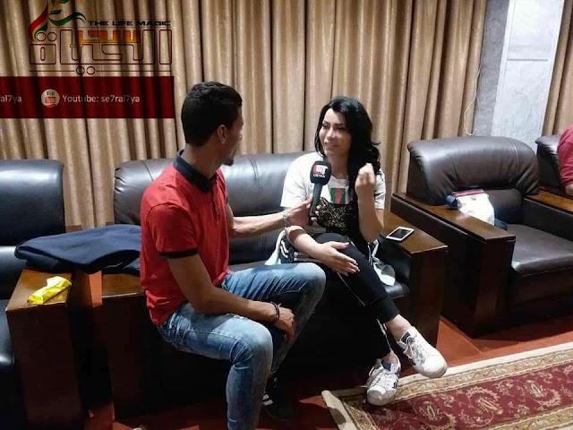 الفنانة السورية ملك ديب تعيد باب الحارة الدمشقي في ليبيا