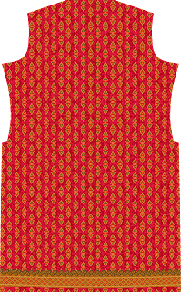 Traditional Print Red Colour Suit Kurtis Design - Back 2744