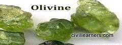 Rock forming mineral Olivine