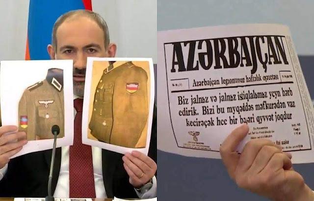 Pashinyan acusa a Azerbaiyán de aliado nazi