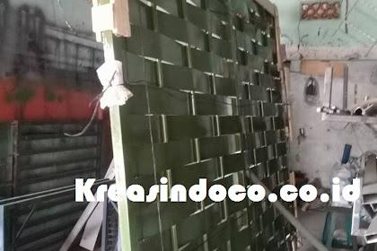 Pintu Besi Anyam Bambu Pesanan Bu Vonni Untuk Kirim Manado