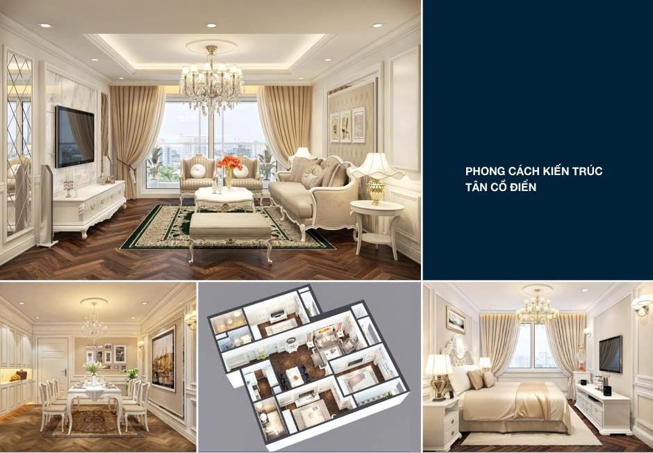 Thiết kế căn hộ Goldsilk complex phong cách tân cổ điển