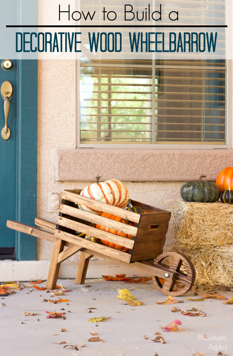 Learn how to build a decorative wood wheelbarrow, just in time for fall
