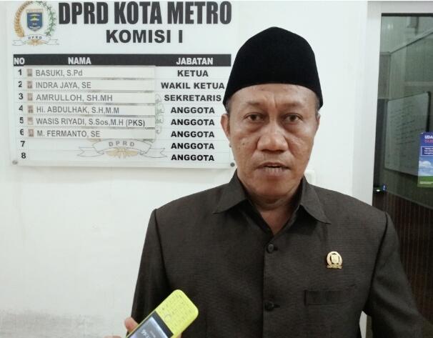 Anmor Mundur, Basuki Diusulkan Jadi Wakil Ketua 1 DPRD Kota Metro