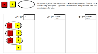 Modeling adding integers with algebra tiles free google drive resource